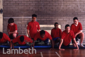 GYM CLASS, BISHOP THOMAS GRANT SCHOOL, STREATHAM