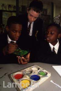 ART CLASS, BISHOP THOMAS GRANT SCHOOL, STREATHAM