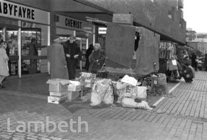 MARKET STALLS, LAMBETH WALK, LAMBETH