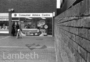 CONSUMER ADVICE CENTRE, LAMBETH WALK