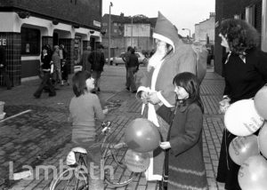 FATHER CHRISTMAS AND THE GEORGE PUBLIC HOUSE, LAMBETH WALK