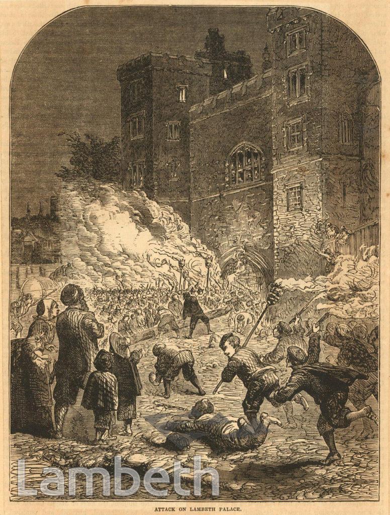 CIVIL WAR ATTACK ON LAMBETH PALACE
