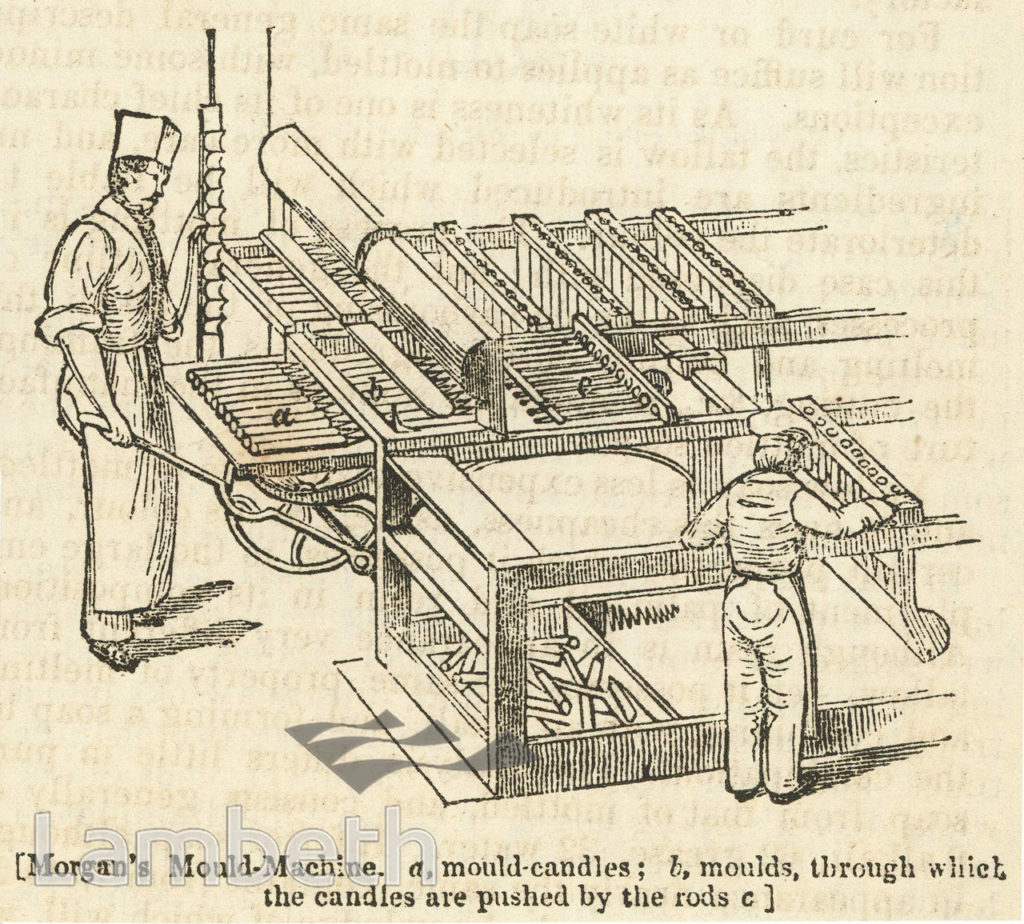 CANDLE MAKING, HAWES' FACTORY, COMMERCIAL ROAD, WATERLOO