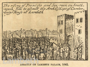 CIVIL WAR ATTACK ON LAMBETH PALACE