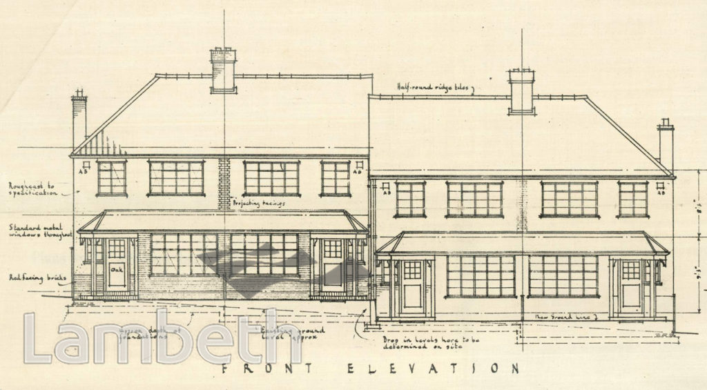 PROPOSED HOUSING, CASEWICK ROAD, WEST NORWOOD