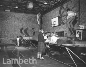 TRAMPOLINING, FLAXMAN SPORTS CENTRE, LOUGHBOROUGH JUNCTION