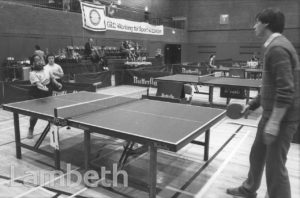 TABLE TENNIS, BRIXTON REC, STATION ROAD, BRIXTON