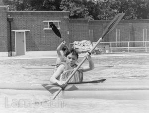 KAYAKING, BROCKWELL LIDO, HERNE HILL