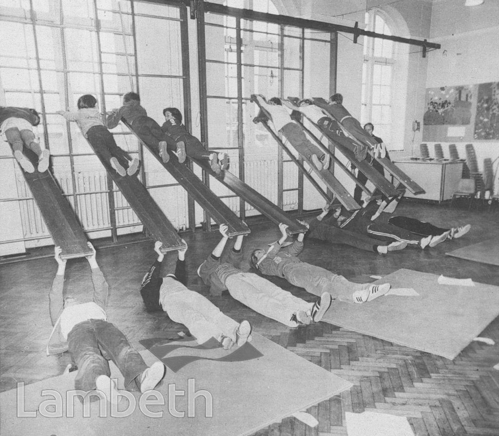 FITNESS SESSION, ASHBY MILL SCHOOL, PRAGUE PLACE, BRIXTON