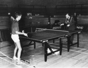 TABLE TENNIS TOURNAMENT, BRIXTON RECREATION CENTRE