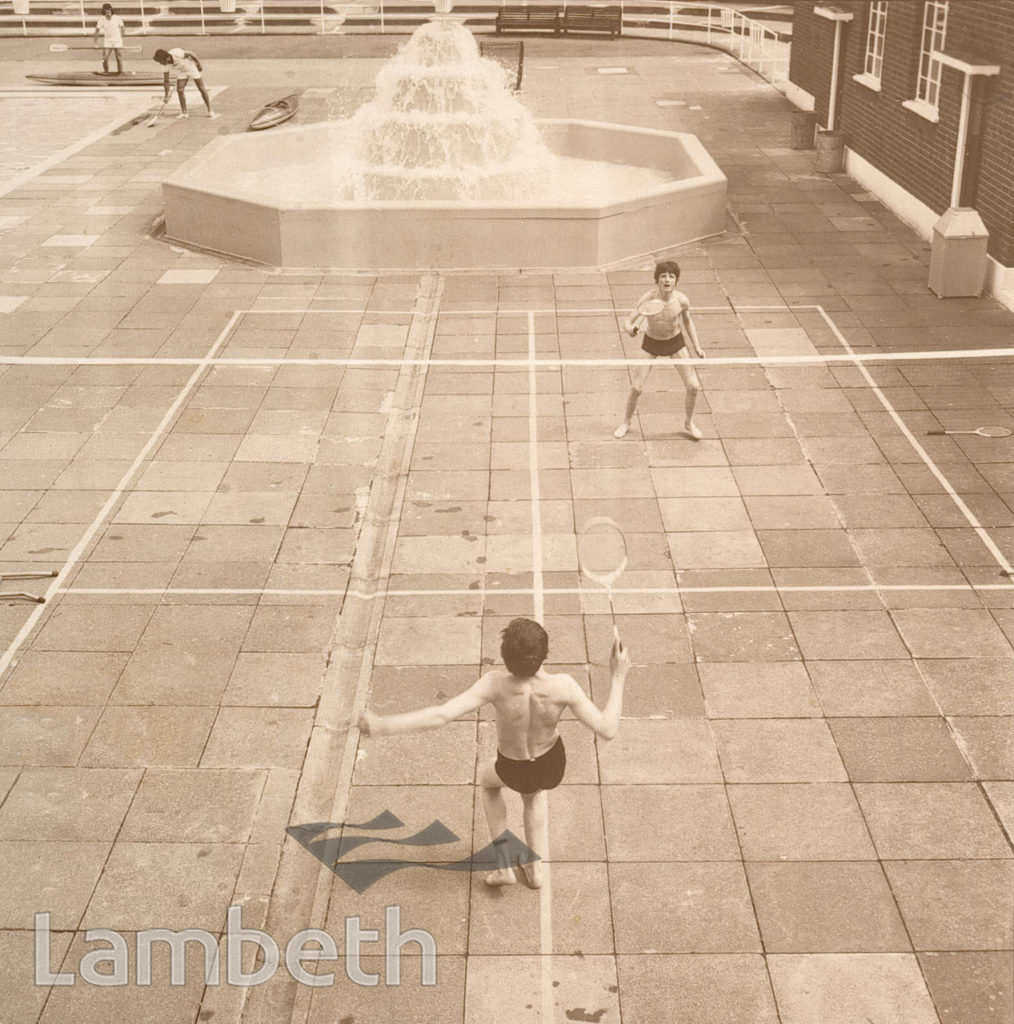 BADMINTON GAME, BROCKWELL LIDO, HERNE HILL