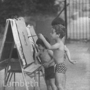 BOYS PAINTING, LOUGHBOROUGH PARK, LOUGHBOROUGH JUNCTION