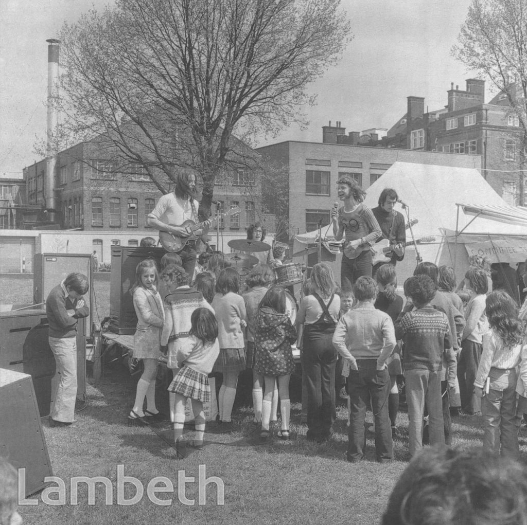 PERFORMING BAND, VAUXHALL PARK, VAUXHALL