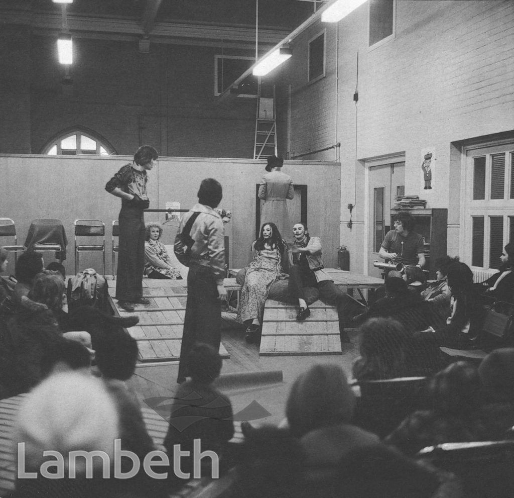 THEATRICAL PERFORMANCE, DURNING LIBRARY, KENNINGTON