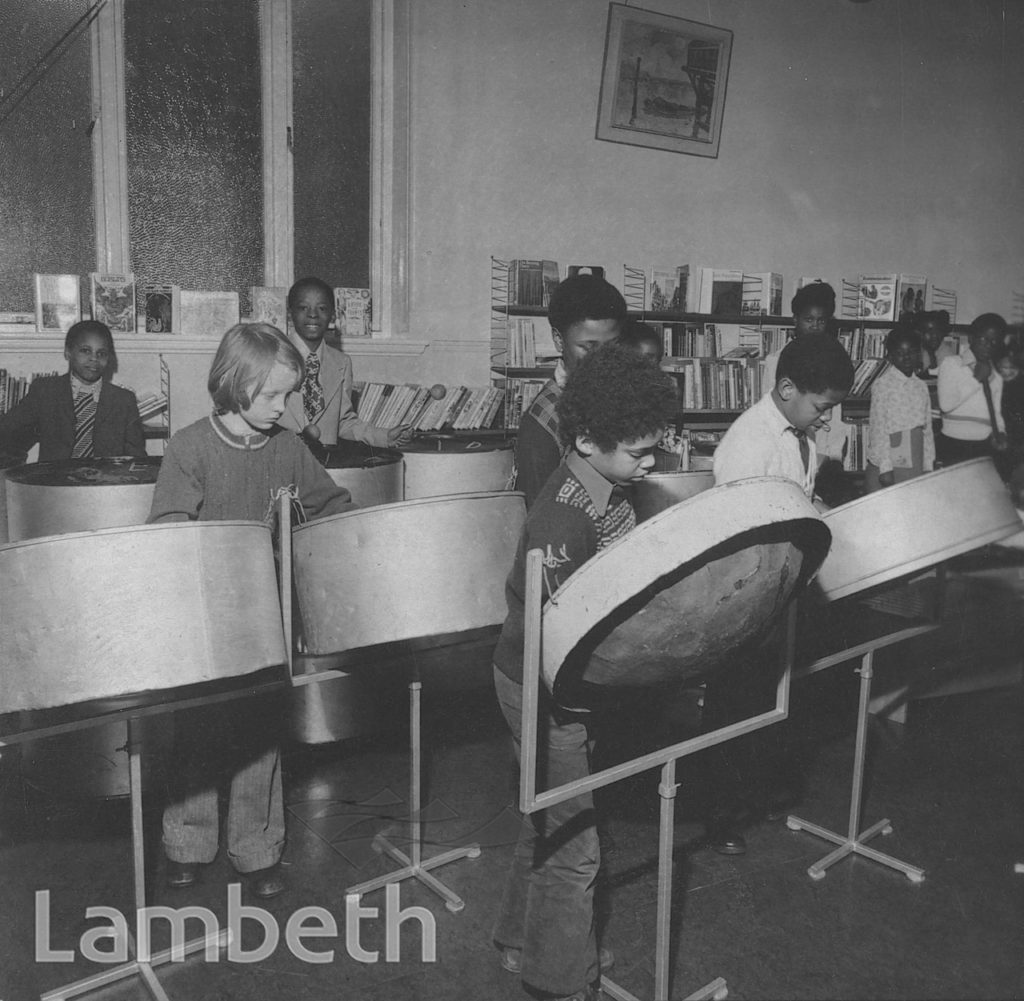 STEEL BAND, TATE LIBRARY, BRIXTON