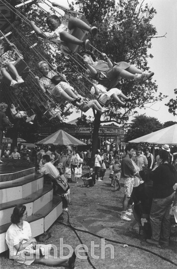 SWING RIDE, LAMBETH COUNTRY SHOW, BROCKWELL PARK