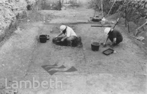 ARCHAEOLOGISTS, UNIGATE DAIRY SITE, VAUXHALL