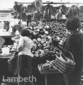 GREENGROCER'S MARKET STALL, BRIXTON