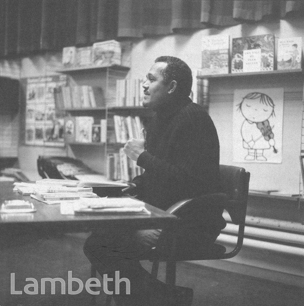 JOHN LA ROSE READING, TATE LIBRARY, BRIXTON