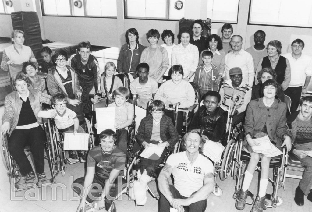 DISABLED CHILDREN, FLAXMAN CENTRE, LOUGHBOROUGH JUNCTION