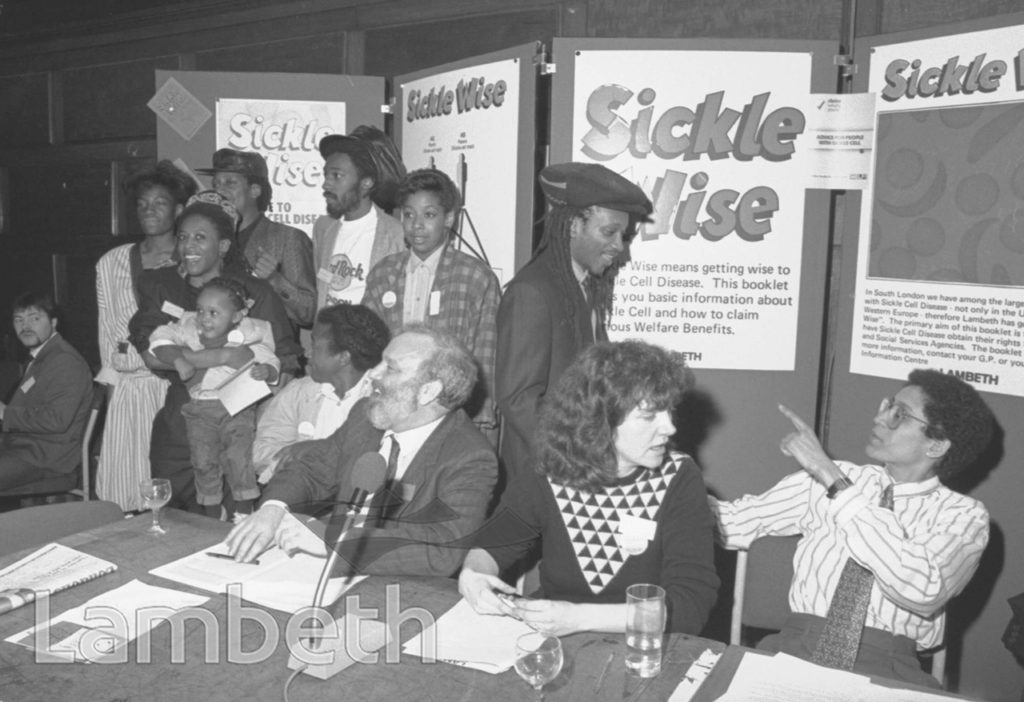 SICKLE CELL CAMPAIGN, TOWN HALL, BRIXTON
