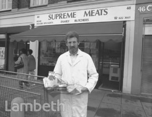 BUTCHER, 48 WILCOX ROAD, SOUTH LAMBETH