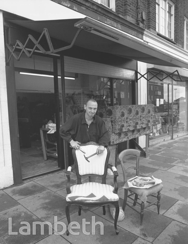 UPHOLSTERER, WILCOX ROAD, SOUTH LAMBETH