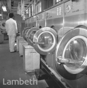 WASHING MACHINES, LAMBETH BATHS, LAMBETH WALK