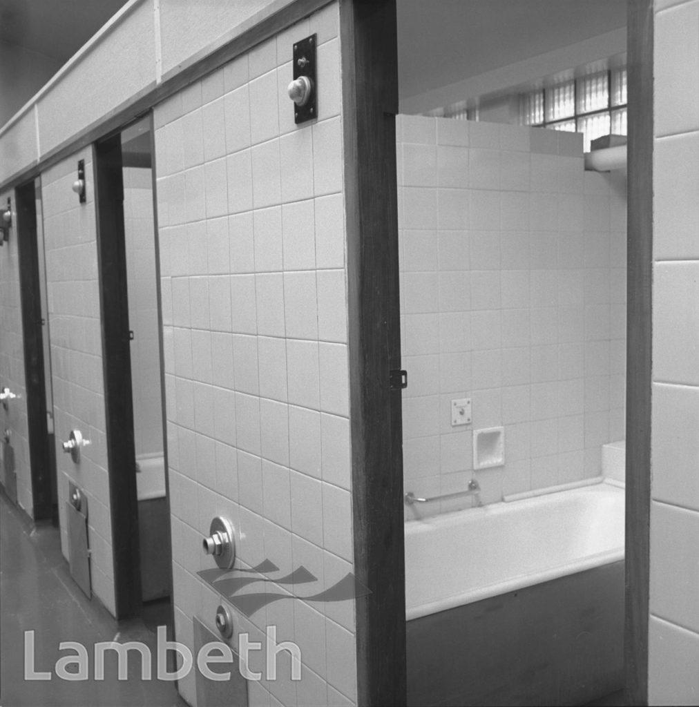 BATHROOMS, LAMBETH BATHS, LAMBETH WALK