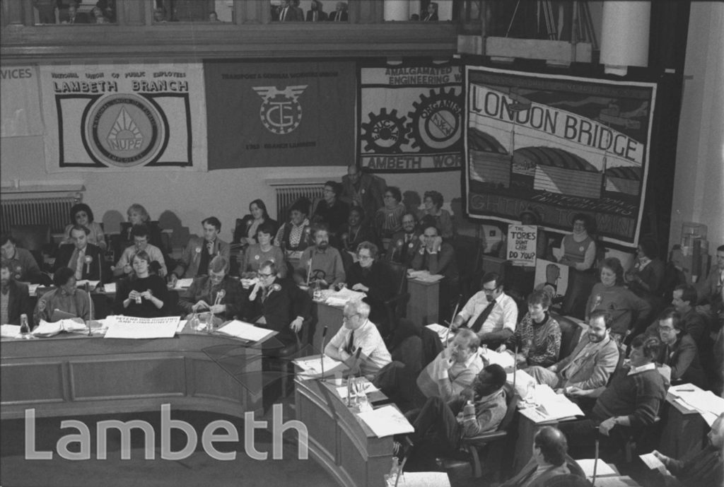 RATE-CAPPING MEETING, TOWN HALL, BRIXTON
