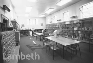 READING ROOM, LAMBETH ARCHIVES, MINET LIBRARY, BRIXTON NORTH