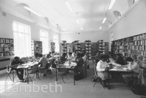 UPPER READING ROOM, TATE LIBRARY, BRIXTON