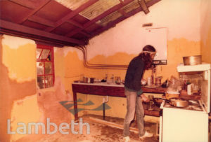 KITCHEN IN SQUAT, 34 LINGHAM STREET, STOCKWELL