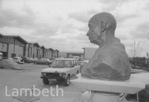 GANDHI STATUE, INDUSTRIAL ESTATE, MILKWOOD ROAD, HERNE HILL