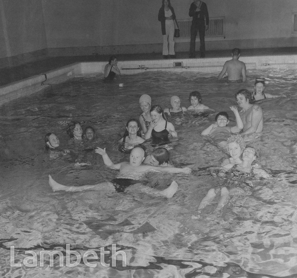 DISABLED CHILDREN SWIMMING, STREATHAM BATHS