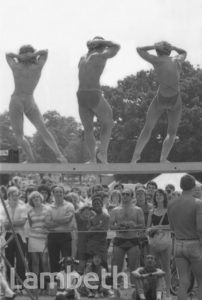 BODY BUILDERS, SPORTS FESTIVAL, BROCKWELL PARK, HERNE HILL