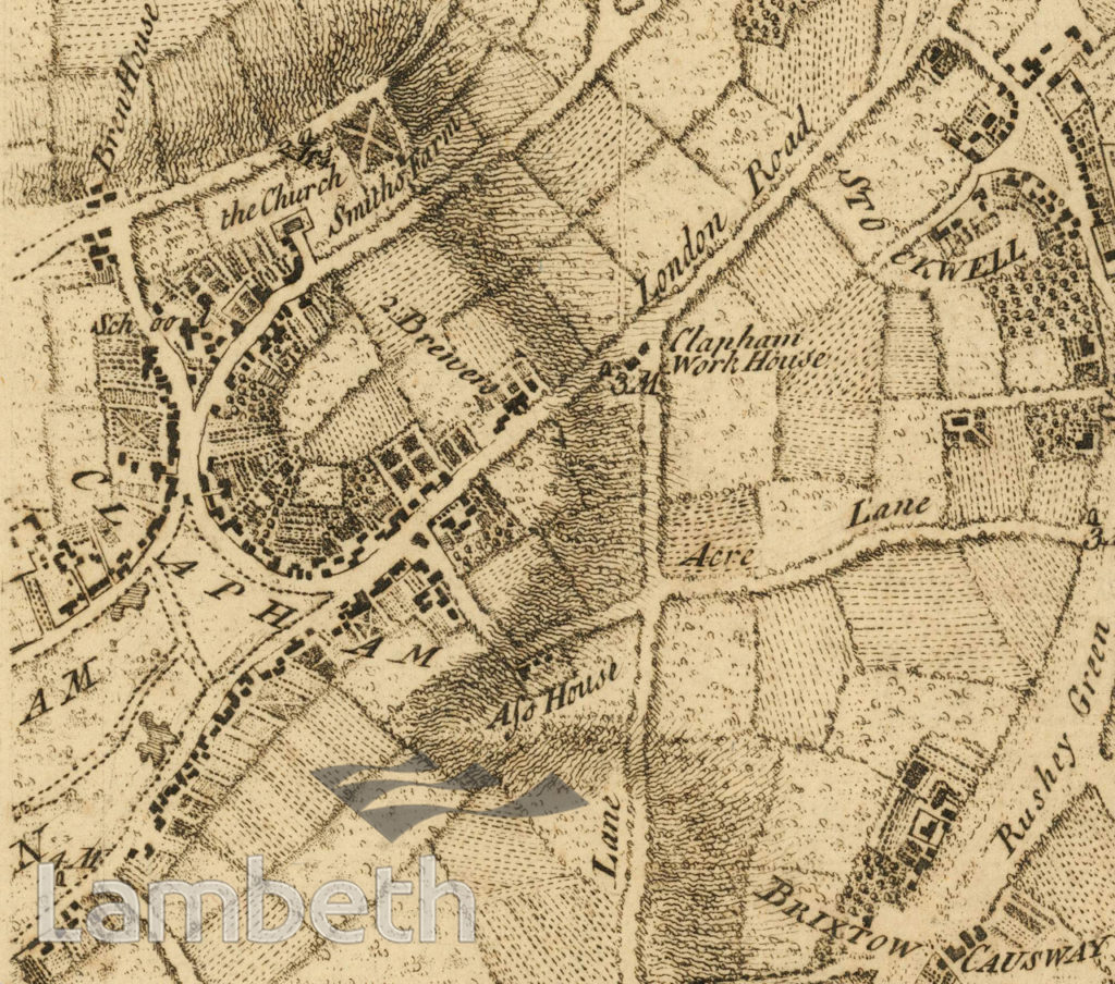 ROCQUE MAP: CLAPHAM, STOCKWELL AND BRIXTON