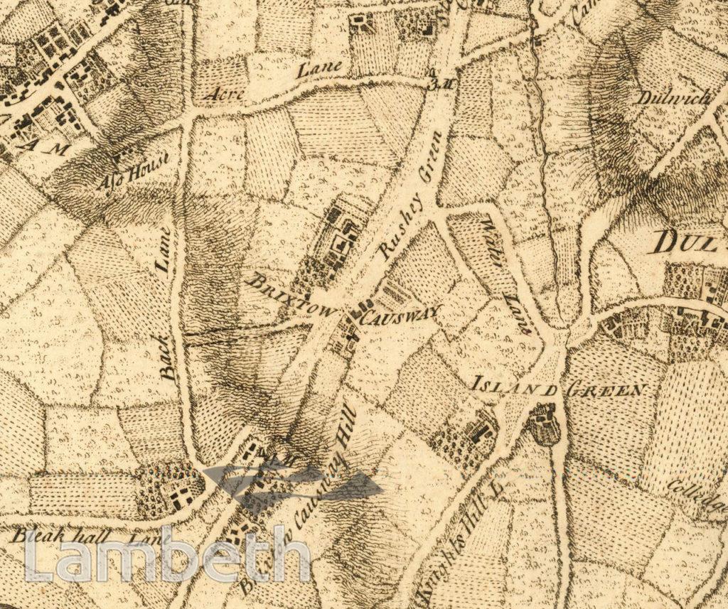 ROCQUE MAP: BRIXTON CAUSEWAY