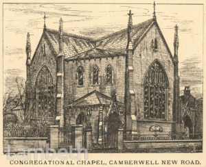CONGREGATIONAL CHAPEL, CAMBERWELL NEW ROAD