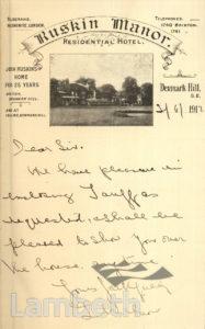 RUSKIN MANOR, DENMARK HILL, CAMBERWELL