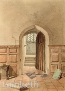 POST ROOM, LAMBETH PALACE