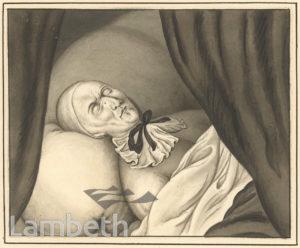ARCHBISHOP WILLIAM JUXON ON DEATH BED, LAMBETH PALACE
