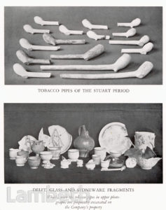 POTTERY EXCAVATED ON DOULTON COMPANY PROPERTY, LAMBETH
