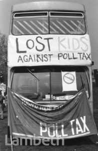 POLL TAX DEMONSTRATION, KENNINGTON