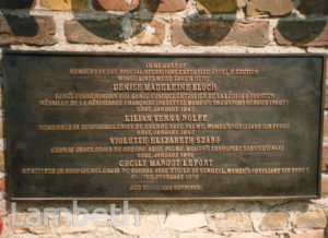 MEMORIAL PLAQUE, RAVENSBRUCK, WORLD WAR II