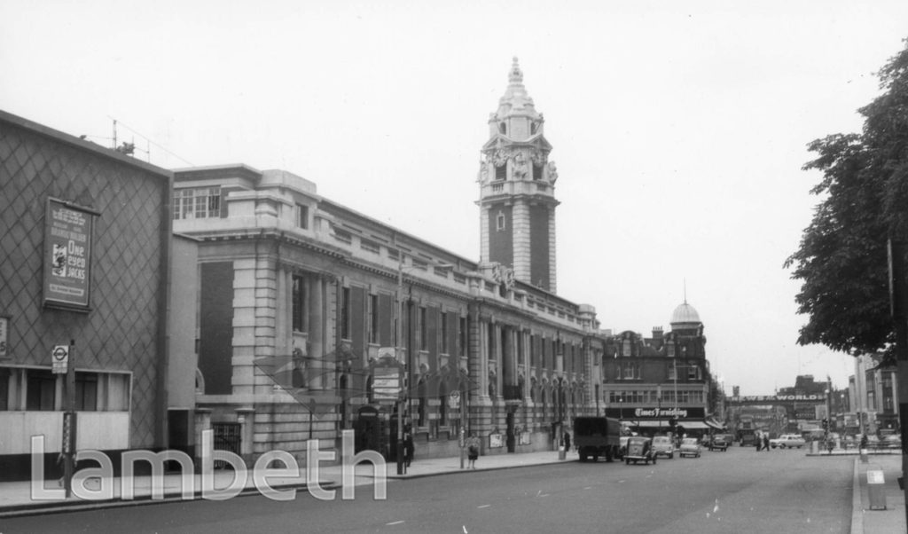 LAMBETH TOWN HALL, BRIXTON HILL, BRIXTON CENTRAL