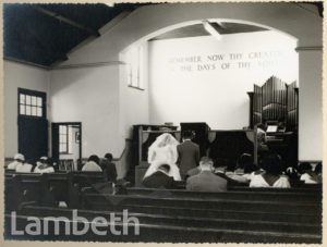 WEDDING, RALEIGH PARK BAPTIST CHURCH, BRIXTON HILL