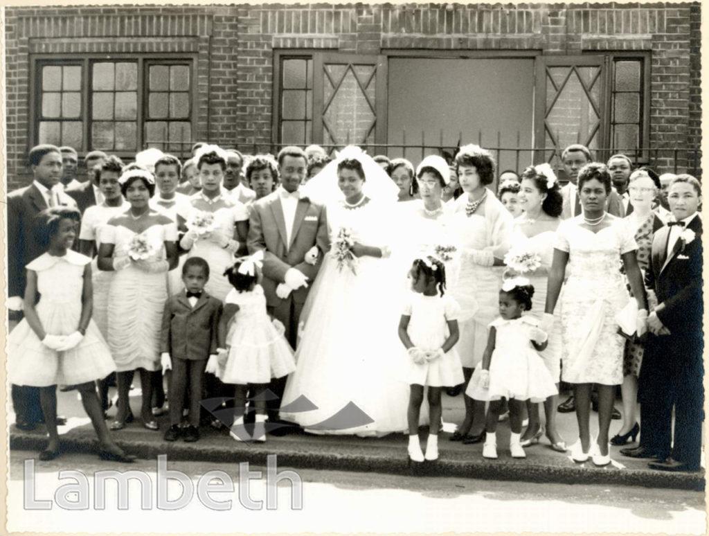 WEDDING GROUP, RALEIGH PARK BAPTIST CHURCH, BRIXTON HILL