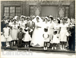 WEDDING GROUP, RALEIGH PARK BAPTIST CHURCH, BRIXTON HILL