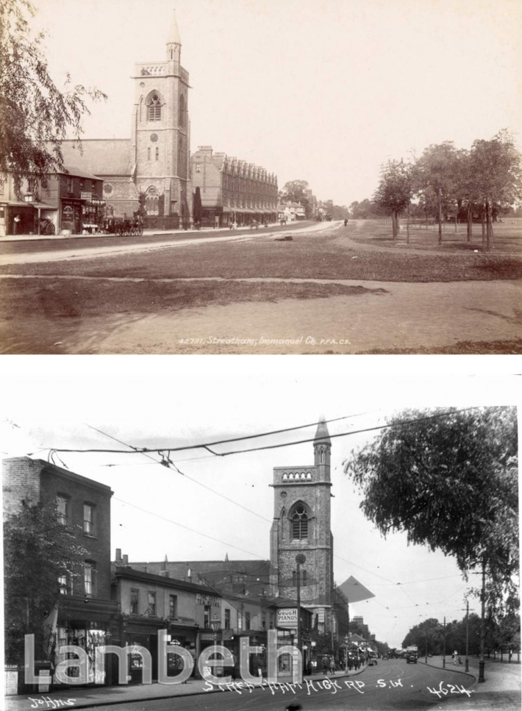 IMMANUEL CHURCH, STREATHAM COMMON, TWO VIEWS,1898 AND c.1912